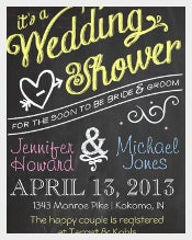 Chalkboard Couples Wedding Shower Invitation Template