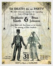 Skeleton Till Death Halloween Wedding Invitation