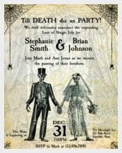 Wedding Invitation Templates Free Sample Example Format - Halloween wedding invitations templates