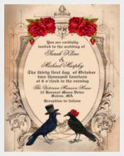 Custom Printable Halloween Wedding Invitation