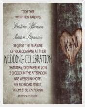 Tree Rustic Traditional Wedding Invitation