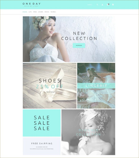 wedding event dress store magento template
