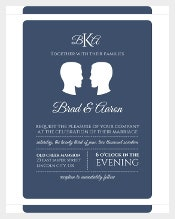 Sopisticated Gay Wedding Invitation