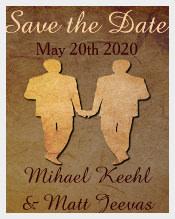Dark Rustic Save the Date Card Gay Wedding Invitation Template