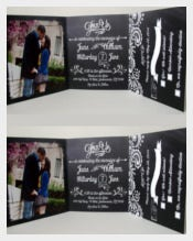 Chalkboard Wedding Invitation Tri Fold Wedding Invitation