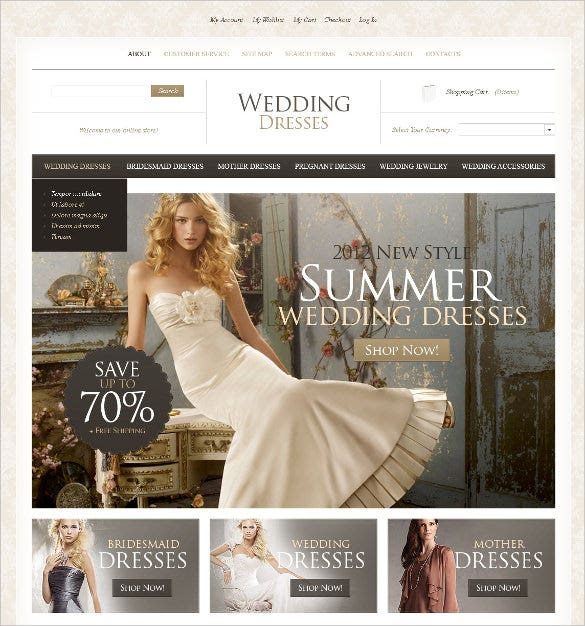 wedding event store magento template