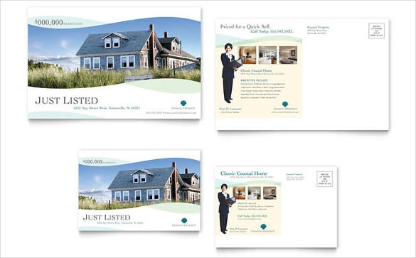 realtor postcard template for coastal areas