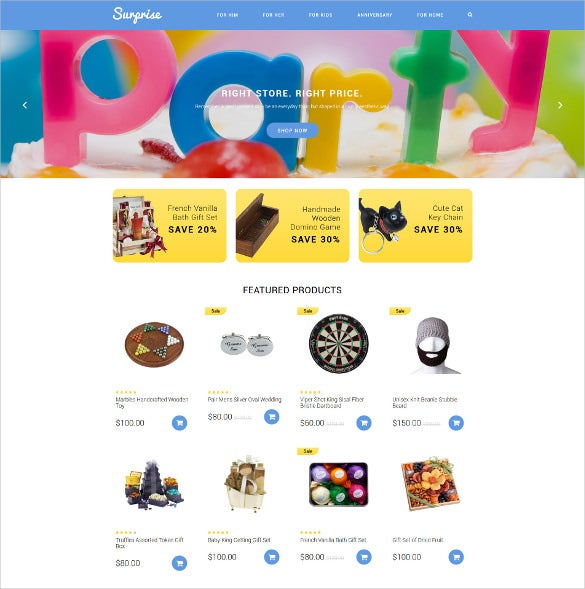 gift shop event opencart theme