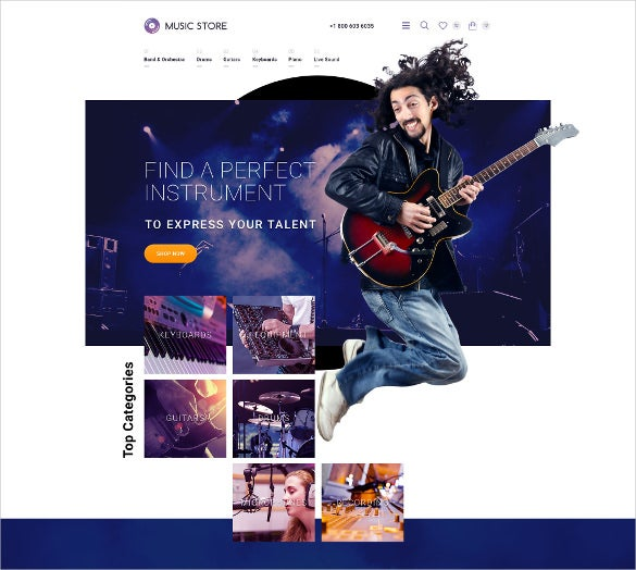 music event instruments opencart template