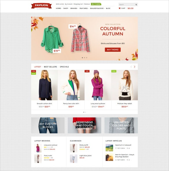 responsive store event opencart theme
