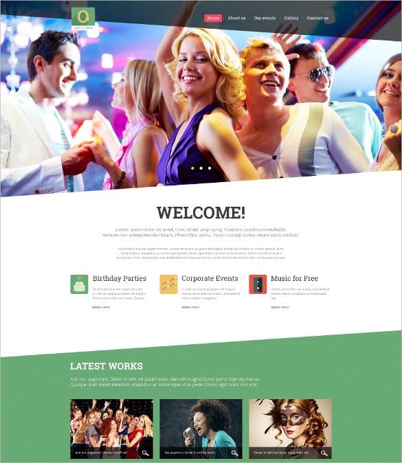 best event planner joomla bootstrap template1