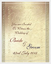 Faded Ivory Handmade Wedding Invitations