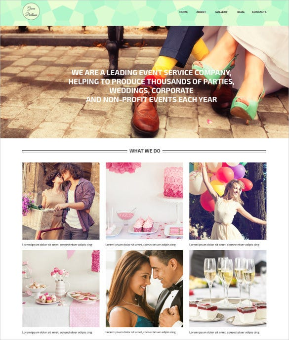 memorable events planner wordpress bootstrap theme