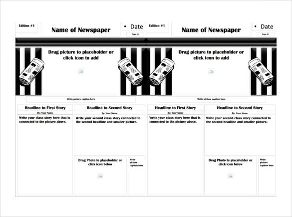 classroom newspaper free ppt template download