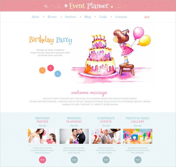 event planner responsive wordpress bootstrap theme
