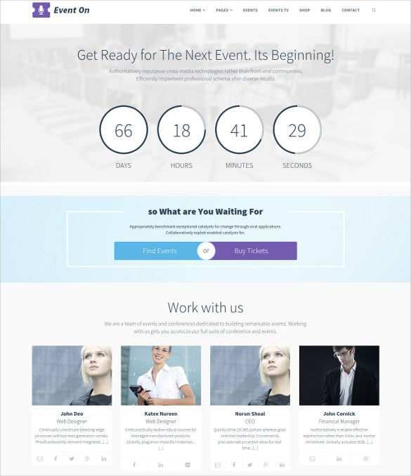 event multipurpose bootstrap theme
