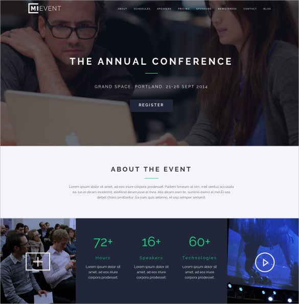 responsive event music bootstrap wordpress theme