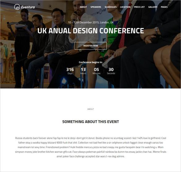 premium event html5 bootstrap template