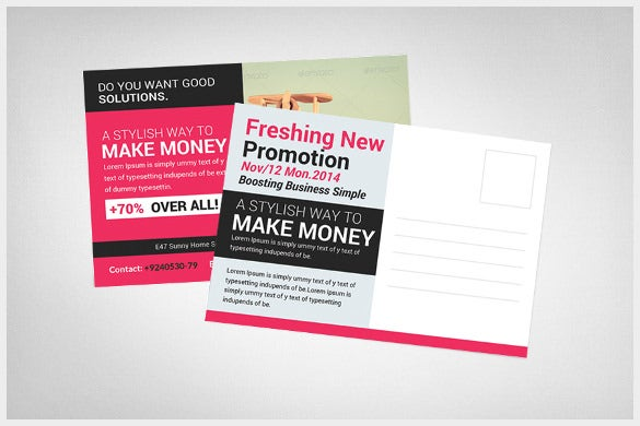 21 marketing postcard templates free sample example format simple business marketing postcard template wajeb Gallery