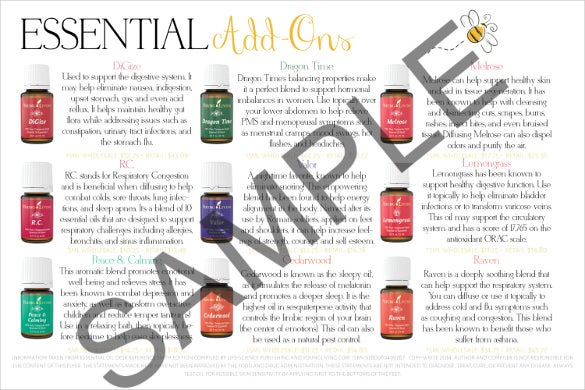 young living printable marketing postcard