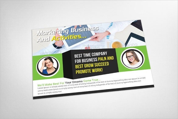 colourful marketing business postcard template1