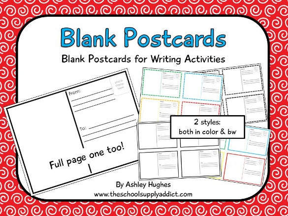 20 postcard templates for kids free sample example format the blank postcard template for kids is a simple and normal looking sample kids postcard template that comes in two different styles from which you can altavistaventures Choice Image