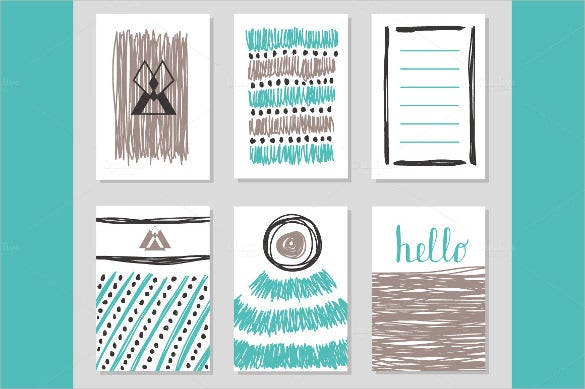 six collection of postcard template only for kids