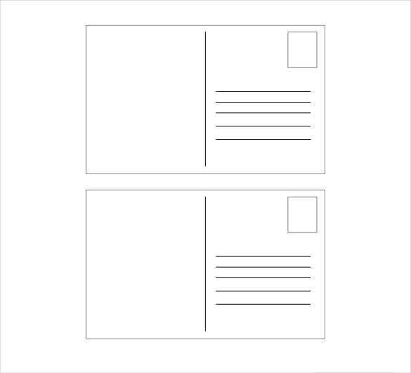 simple postcard template for kids