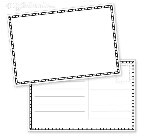 kids postcard template with black border