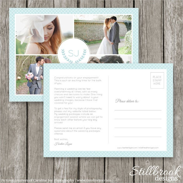 Marketing Postcard Templates Free Sample Example Format - Photography postcard template