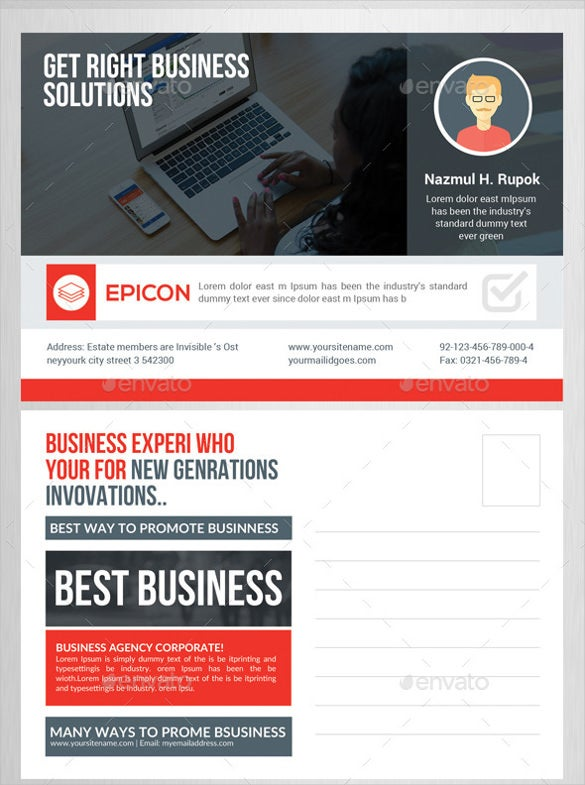 marketing business postcard template1