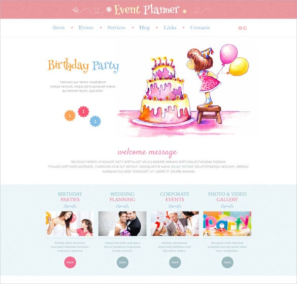 event planner responsive wordpress html5 theme