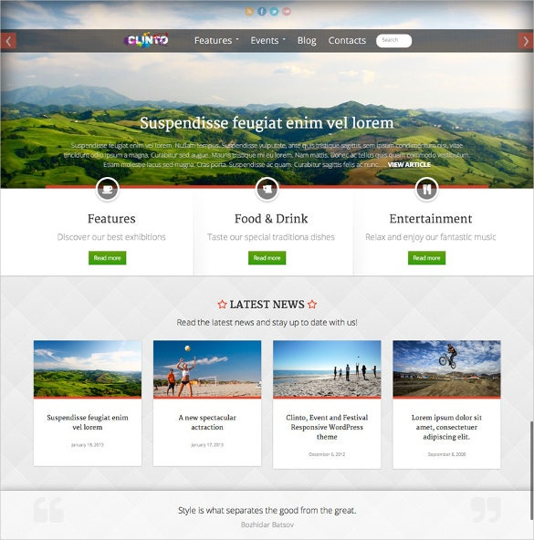 html5 responsive wordpress theme for events