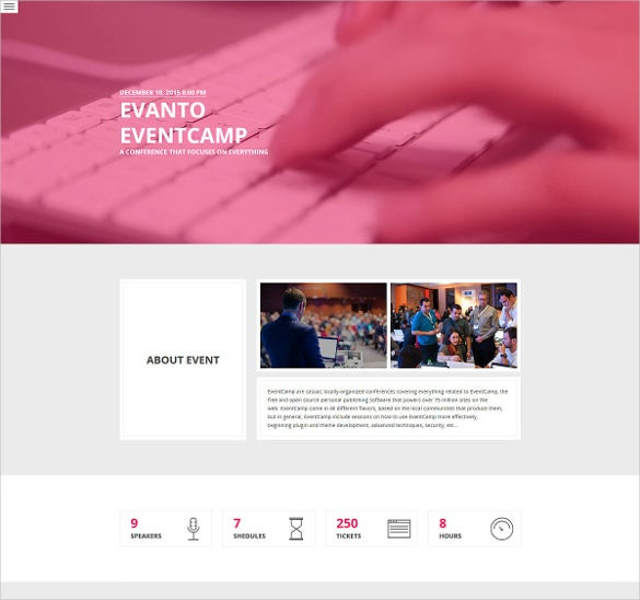 conference event wordpress html5 theme