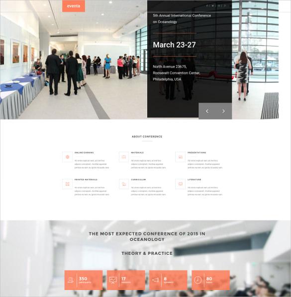 premium event html5 theme