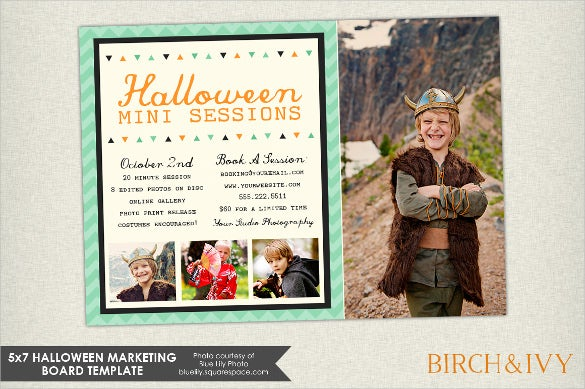 halloween marketing board postcard template
