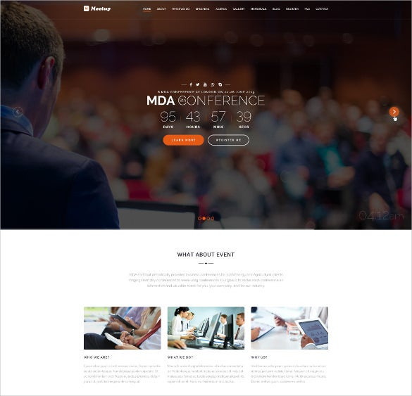 business conference event wordpress html5 theme
