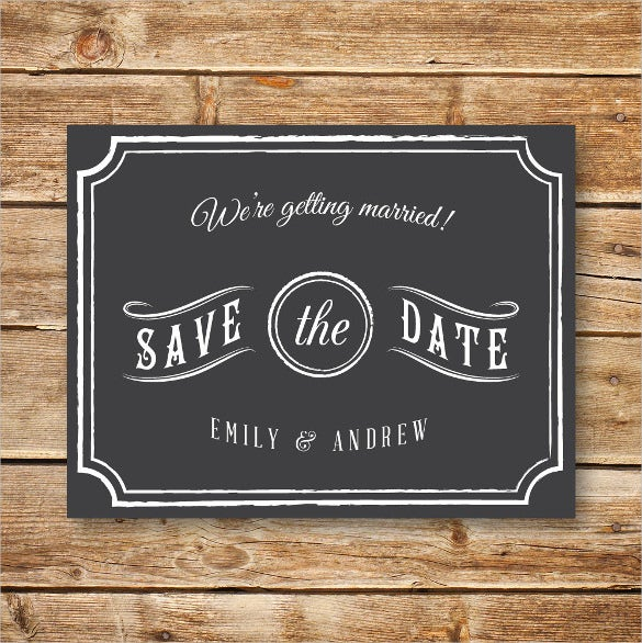 save the date printable wedding postcard