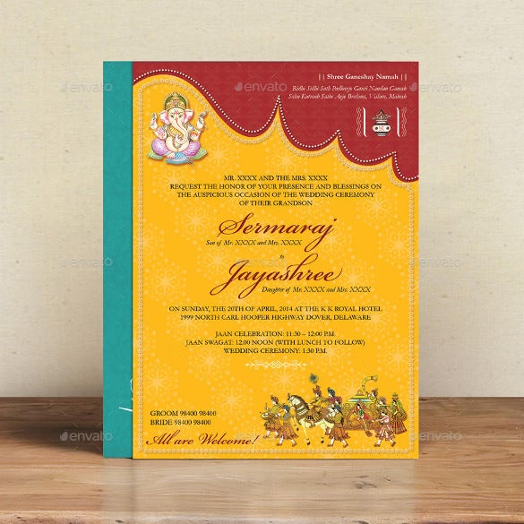 Traditional Wedding Invitations 17 PSD JPG Format Wedding – Hindu Wedding Invitation Cards Designs