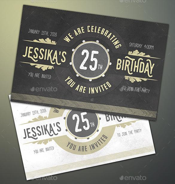 beautiful birthday postcard template psd format