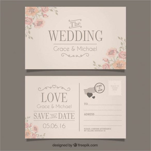 20+ Wedding Postcard Templates – Free Sample, Example, Format