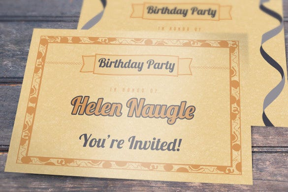 fully editable birthday invitation postcard