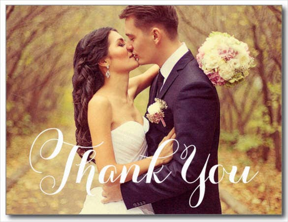 wedding photo thank you note postcards