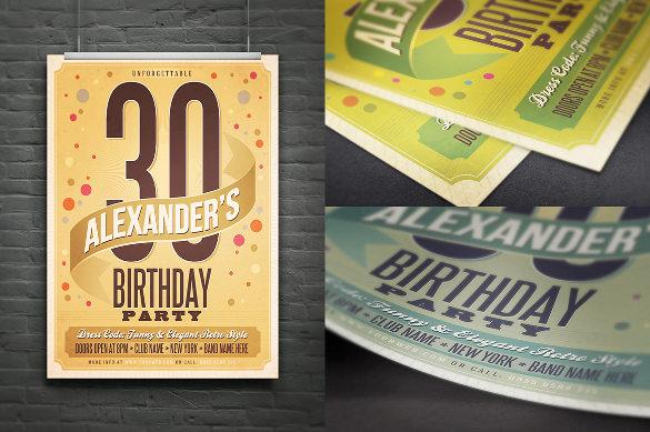 cool retro style birthday invitation postcard