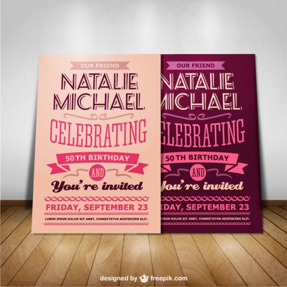 free vector birthday postcard template download