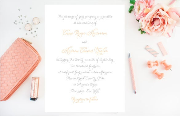 simple fancy wedding invitation
