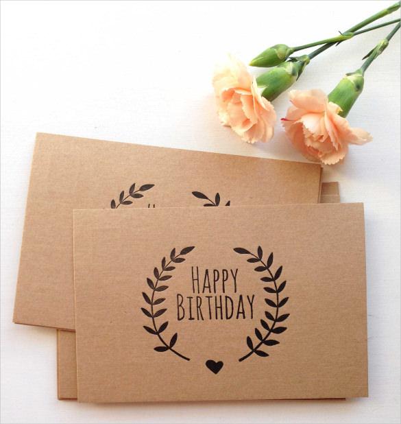 letterpress birthday invitation postcard1
