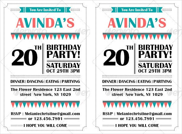 set of 2 birthday postcard template psd format