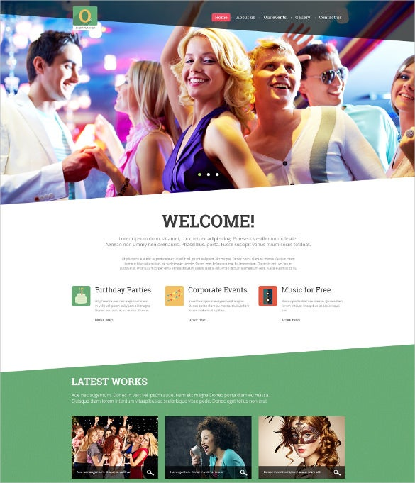 best event planner joomla php theme