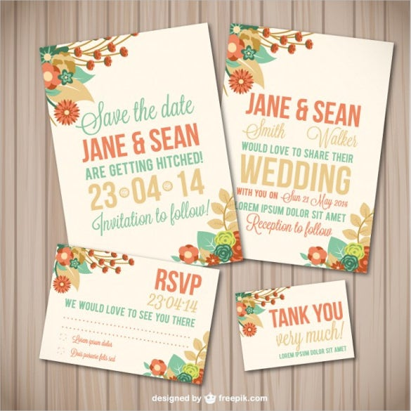 simple flower wedding template wood texture